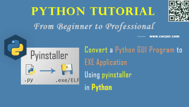 Python - Convert a Python GUI Program to EXE Application Using pyinstaller