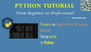 Python - Create an Application Process Monitor Using psutil for Beginners