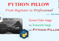 Python Pillow - Convert Color Image to Grayscale Image - A Step Guide