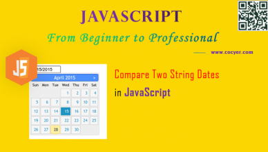 JavaScript: Compare Two String Dates for Beginners