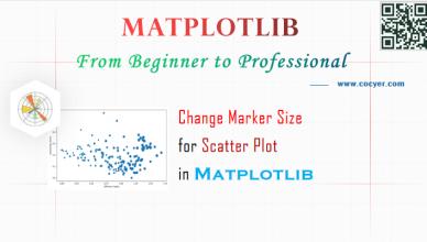 Matplotlib - Change Marker Size in Scatter Plot