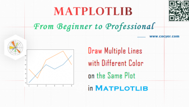 Matplotlib - Draw Multiple Lines with Different Color on the Same Plot - A Step Guide