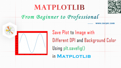 Matplotlib - Save Plot to Image with Different DPI and Background Color Using plt.savefig() - A Step Guide