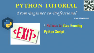 Python: 4 Methods to Stop Running Python Script