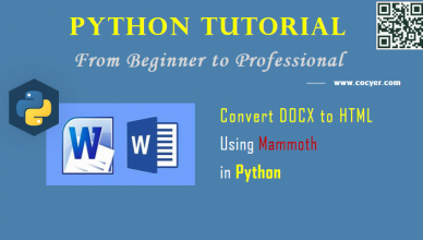 Python File Processing: Convert DOCX to HTML Using Mammoth