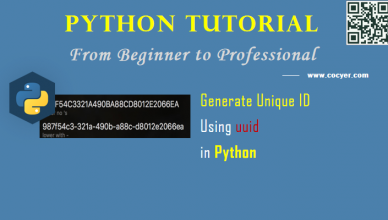 Python: Generate Unique ID Using uuid Package