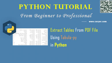 Python PDF Processing - Extract Tables From PDF File Using Tabula-py for Beginners